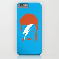 iPhone & iPod Case featuring Ziggy Stardust - Blue by Buchino
