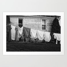 Amish Laundry Art Print