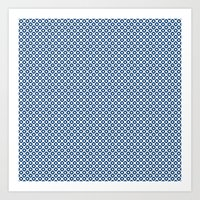kanoko in monaco blue Art Print