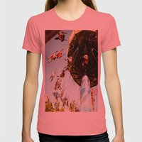 In Motion Womens Fitted Tee Pomegranate SMALL