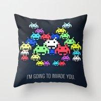 Invader Boss Throw Pillow