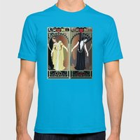 Legend Nouveau - Mirrore… Mens Fitted Tee Teal SMALL