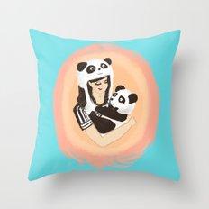 Panda & Jess Throw Pillow