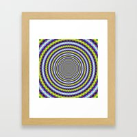 Toothed Rings In Blue An… Framed Art Print