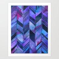 PATTERN {chevron 008} Art Print