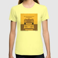 No207 My The Fast and the Furious minimal movie poster Womens Fitted Tee Lemon SMALL