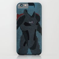 iPhone & iPod Case featuring Commander Shepard by JHTY