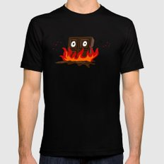 Spicy Chocolate Black Mens Fitted Tee SMALL
