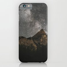 Milky Way Over Mountains - Landscape Photography iPhone 6 Slim Case