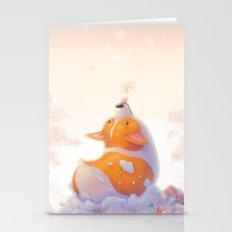 Corgi And Snowflakes Stationery Cards