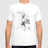 Line 1 Mens Fitted Tee White SMALL