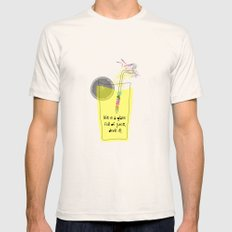 life is a glass of juice, drink it! Mens Fitted Tee Natural SMALL