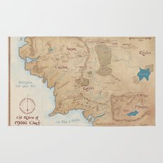 Map of Middle Earth Rug