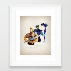 Polygon Heroes - Masters Framed Art Print