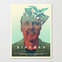 Birdman - Alternative Po… Canvas Print