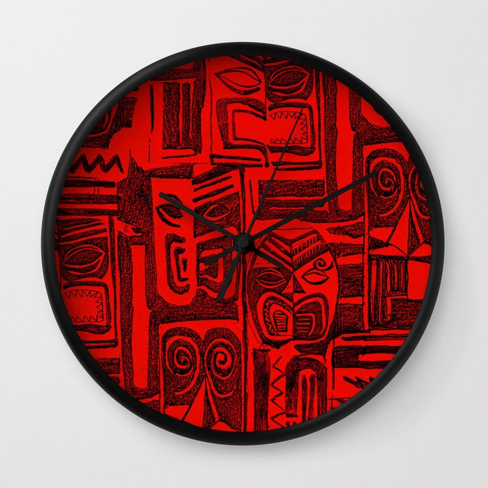 Red and black wall clock for Red and black wall clock