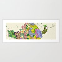 Cloud Peacock Art Print