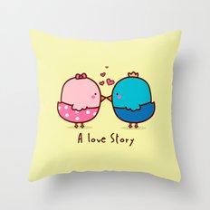 A Love Story Throw Pillow