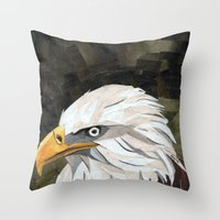 Eagle! Throw Pillow
