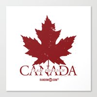 Team Foreign Canada Canvas Print