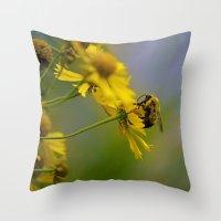 Bumbling Around Throw Pillow