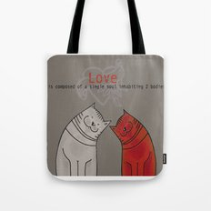 LOVE is a single soul in two bodies Tote Bag