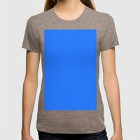 Blue (Crayola) Womens Fitted Tee Tri-Coffee SMALL