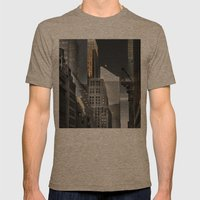 New york / Buildings Mens Fitted Tee Tri-Coffee SMALL