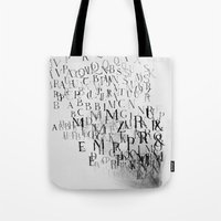 Typography And  The Blac… Tote Bag