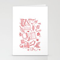 Tea things Stationery Cards