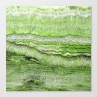 Mystic Stone - Grassy Canvas Print