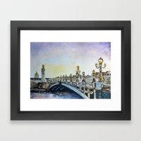 Pont Alexandre III Framed Art Print