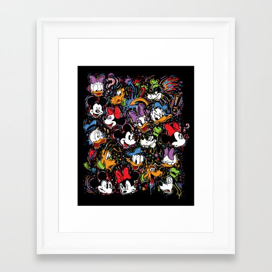 Emotion Explosion Framed Art Print