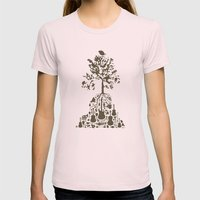 Music Tree Womens Fitted Tee Light Pink SMALL