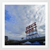 Pike Place Market Sign Art Print