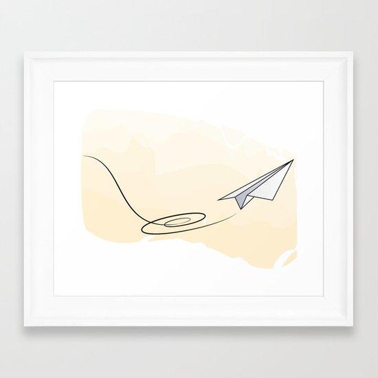 Paperplane Framed Art Print