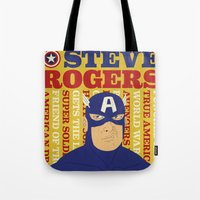 Steve Rogers/Captain America Tote Bag