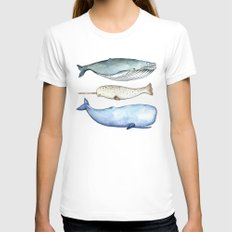 S'whale Womens Fitted Tee White SMALL