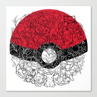ONE BALL TO CATCH THEM ALL Canvas Print