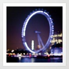 London Eye Bokeh Art Print