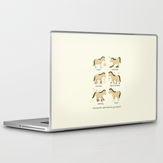 Horse Shoes Laptop & iPad Skin