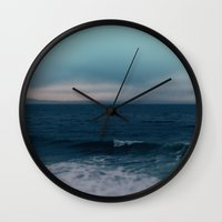 Blue California Ocean Wall Clock