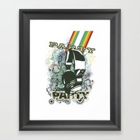 Party Party Framed Art Print