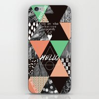 GEOMETRIC - you are what you repeatedly do iPhone & iPod Skin