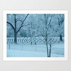 Confederate Snow Art Print
