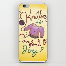 Knitting is Comfort and Joy iPhone & iPod Skin