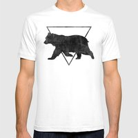 Bear & Bravery Mens Fitted Tee White SMALL