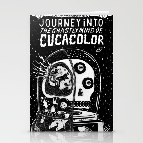 journey in to the ghastly mind of cucacolor Stationery Card