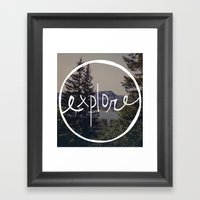 Explore Oregon Framed Art Print