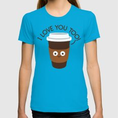 Unfiltered Womens Fitted Tee Teal SMALL